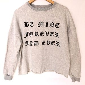 Zara Trafaluc Be Mine Forever and Ever Sweater S